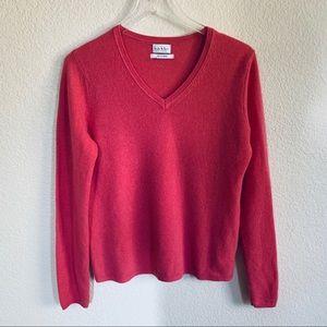 Nicole Miller 100% Cashmere V neck sweater
